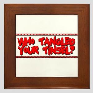 Tangled Tinsel Framed Tile