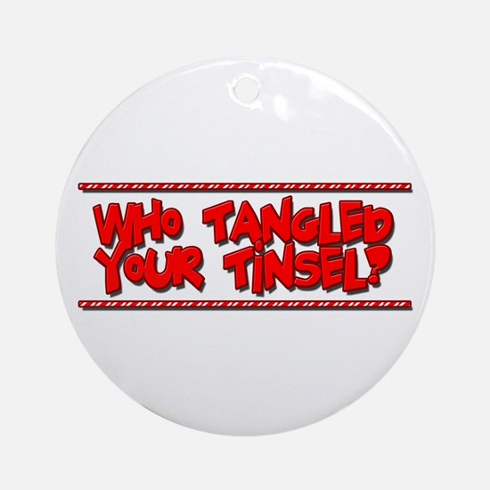 Tangled Tinsel Ornament (Round)