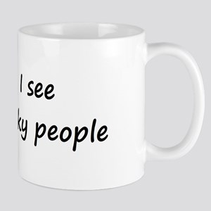 I see geeky people Mug