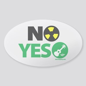 No Nukes, Yes Ukes Sticker (Oval)