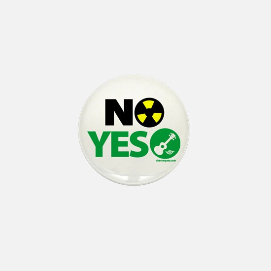 No Nukes, Yes Ukes Mini Button