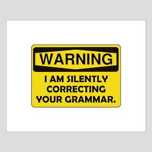 Warning Grammar Small Poster