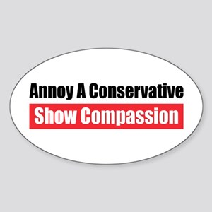 Show Compassion Oval Sticker