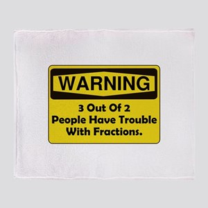 Warning Fraction Throw Blanket