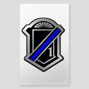One Blue Line Sticker