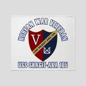 Korea Vet USS Skagit Throw Blanket