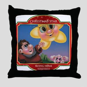 Going Home - Christmas Star Throw Pillow