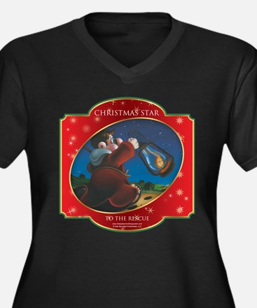To the Rescue - Christmas Sta Women's Plus Size V-