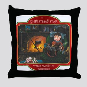 Warm and Cozy - Christmas Sta Throw Pillow