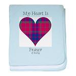 Heart - Fraser of Reelig baby blanket