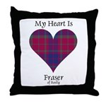 Heart - Fraser of Reelig Throw Pillow