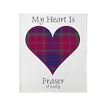 Heart - Fraser of Reelig Throw Blanket