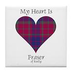 Heart - Fraser of Reelig Tile Coaster