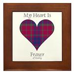 Heart - Fraser of Reelig Framed Tile