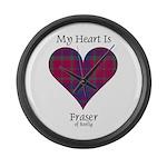 Heart - Fraser of Reelig Large Wall Clock