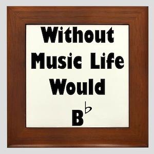 Music B Flat Framed Tile