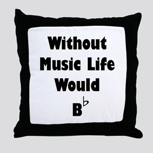 Music B Flat Throw Pillow