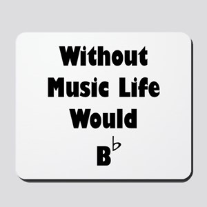 Music B Flat Mousepad
