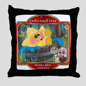 Bubble Bath - Christmas Star Throw Pillow