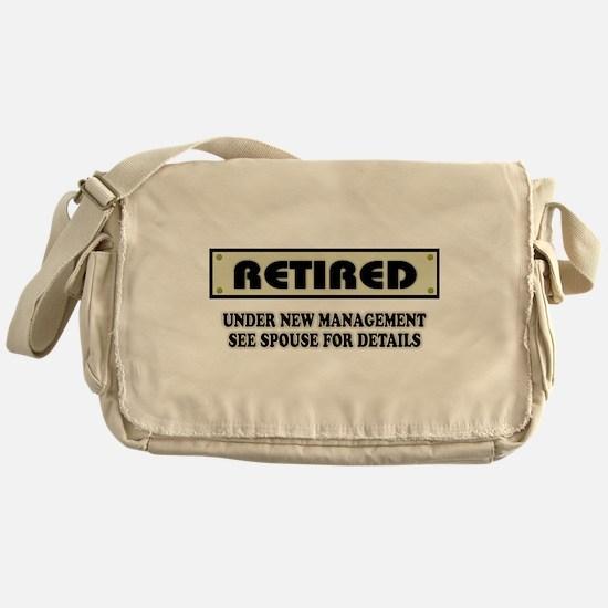 Funny Retirement Gift, Retired, Unde Messenger Bag