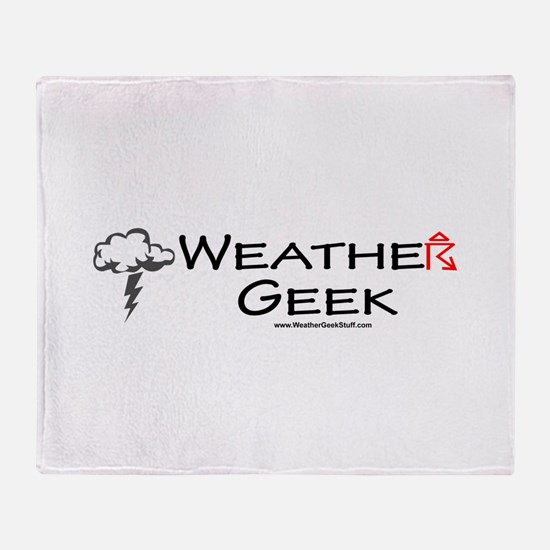 Weather Geek Throw Blanket