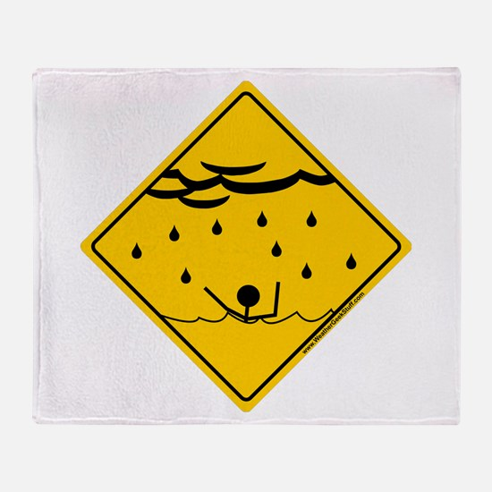 Flood Warning Throw Blanket