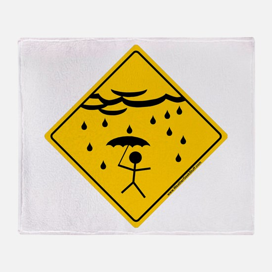 Rain Warning Throw Blanket