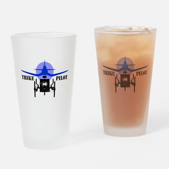 Trike Pilot Drinking Glass