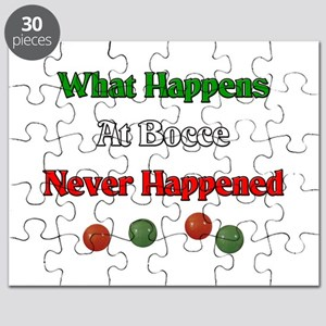 What happens at bocce never happened Puzzle