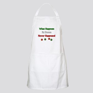 What happens at bocce never happened Apron
