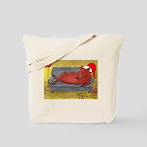 Arkansas Razorback Christmas Tote Bag