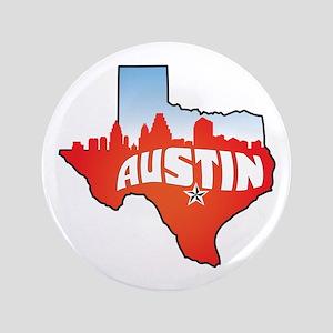 "Austin Texas Skyline 3.5"" Button"