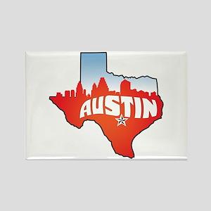 Austin Texas Skyline Rectangle Magnet
