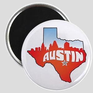 Austin Texas Skyline Magnet