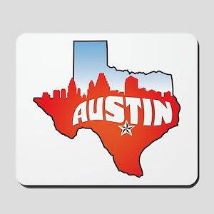 Austin Texas Skyline Mousepad