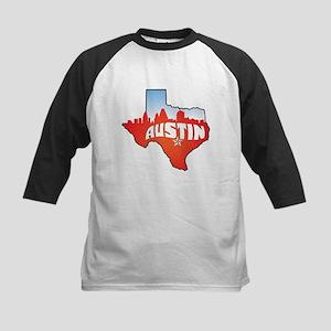 Austin Texas Skyline Kids Baseball Jersey