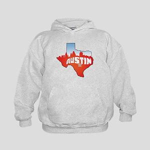 Austin Texas Skyline Kids Hoodie