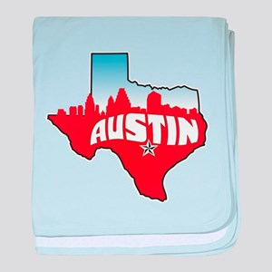 Austin Texas Skyline baby blanket