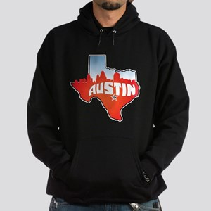 Austin Texas Skyline Hoodie (dark)