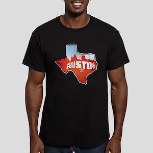 Austin Texas Skyline Men's Fitted T-Shirt (dark)