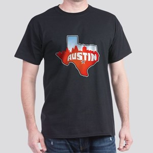 Austin Texas Skyline Dark T-Shirt