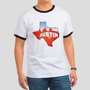 Austin Texas Skyline Ringer T
