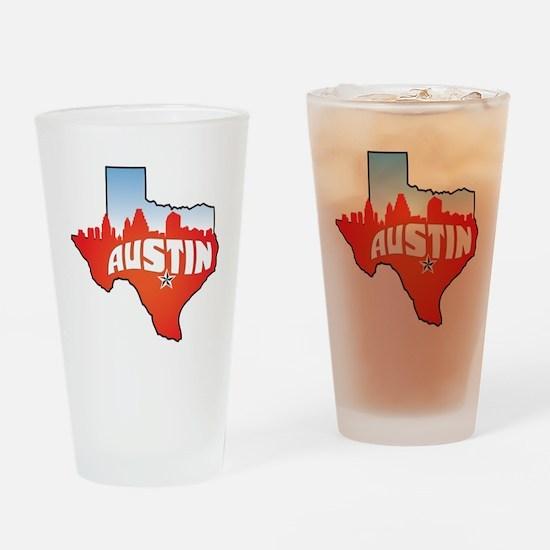 Austin Texas Skyline Drinking Glass