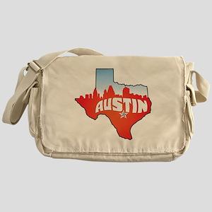 Austin Texas Skyline Messenger Bag