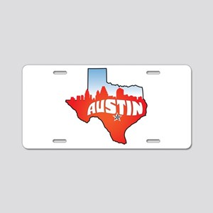 Austin Texas Skyline Aluminum License Plate