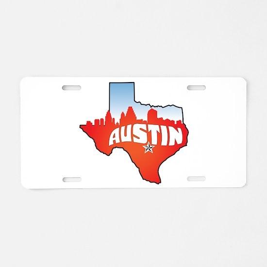 Austin Texas Skyline Aluminum License Plate