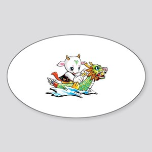 Dragon Boat Sticker (Oval)