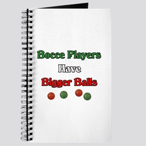 Bocce players have bigger balls. Journal