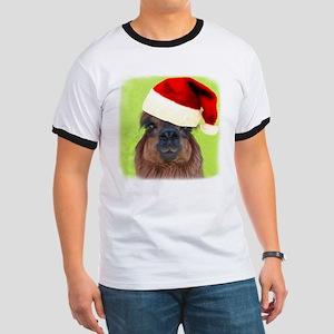Alpaca Christmas Ringer T