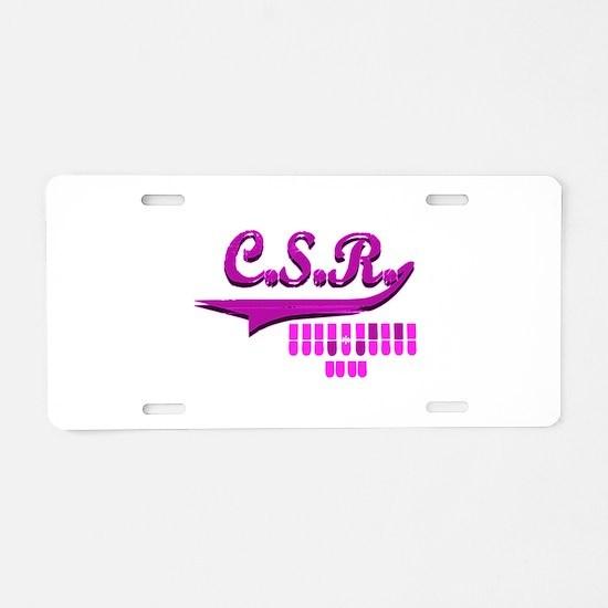Cute Scopist Aluminum License Plate